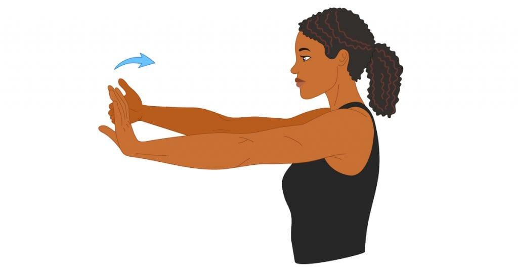 Bending the Wrist with a Wrist Flexor stretch