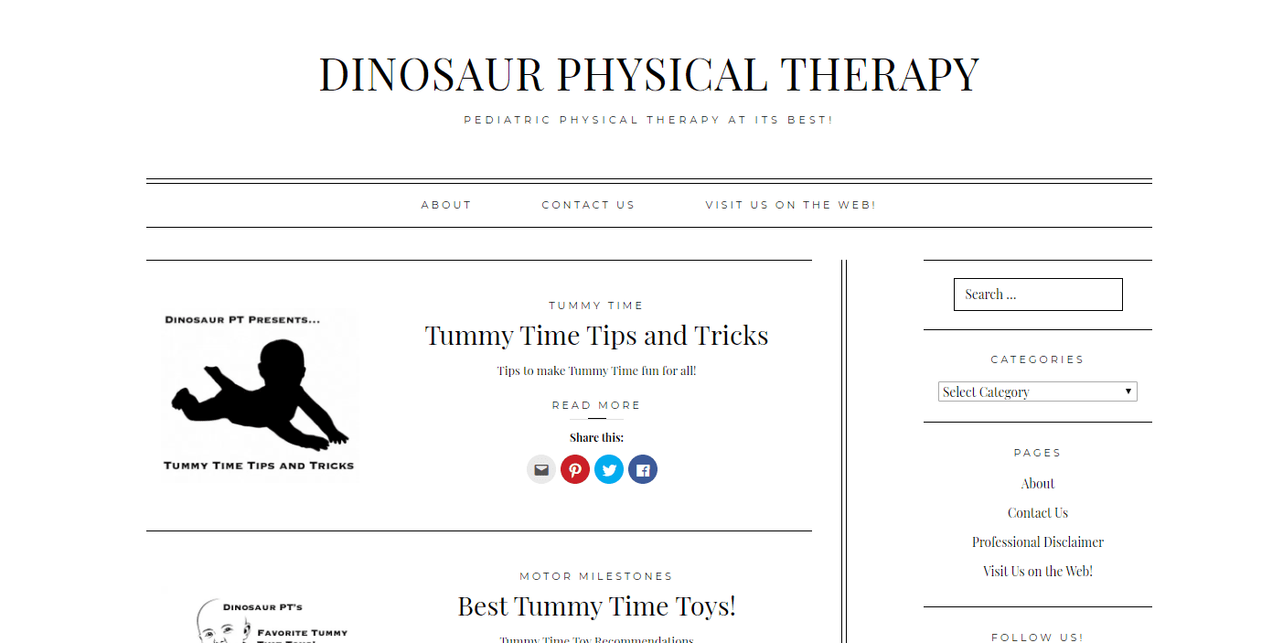 Dinosaur Physical Therapy