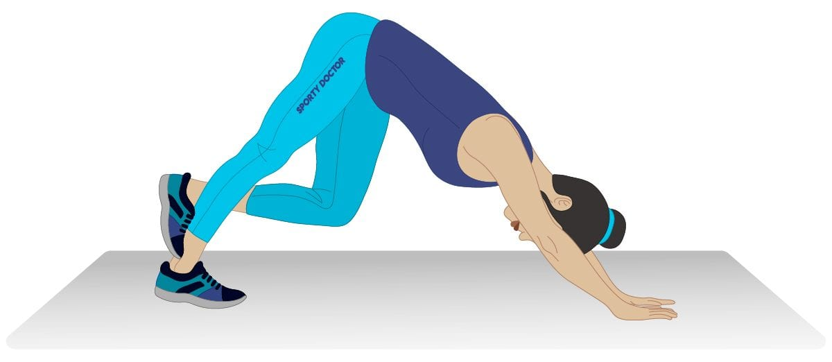 Downward Dog Calf Stretch