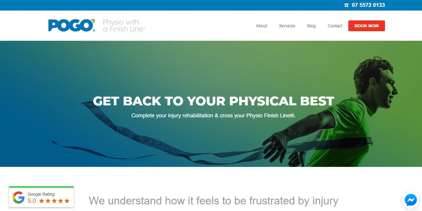 Pogo Physio Award Winning Gold Coast Physio 1hr Initial Appointment