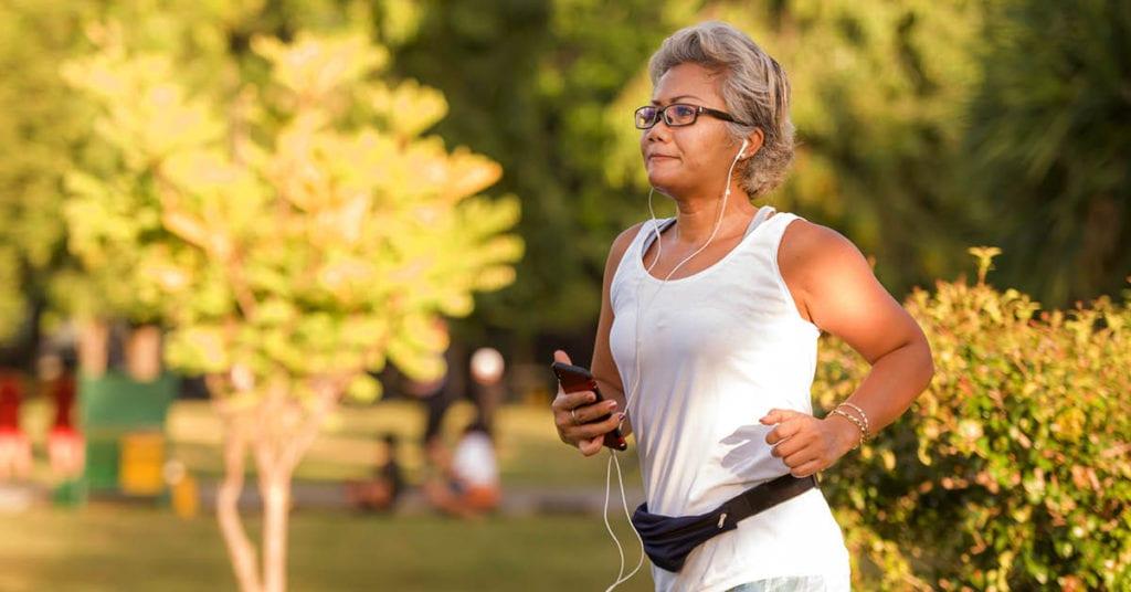 Woman Running Mindset